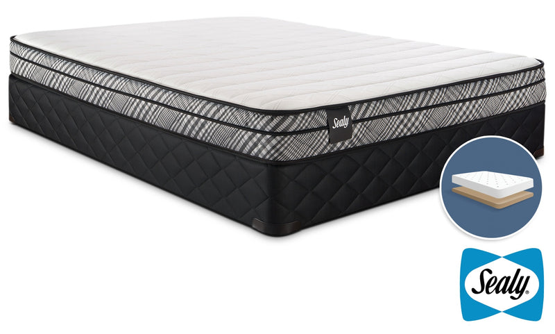 Sealy Imagine II Firm Full Mattress and Low-Profile Boxspring Set