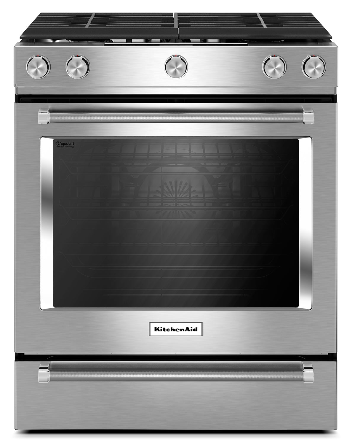 Miraculous Kitchenaid Stainless Steel Slide In Gas Convection Range 5 8 Cu Ft Ksgg700Ess Download Free Architecture Designs Embacsunscenecom