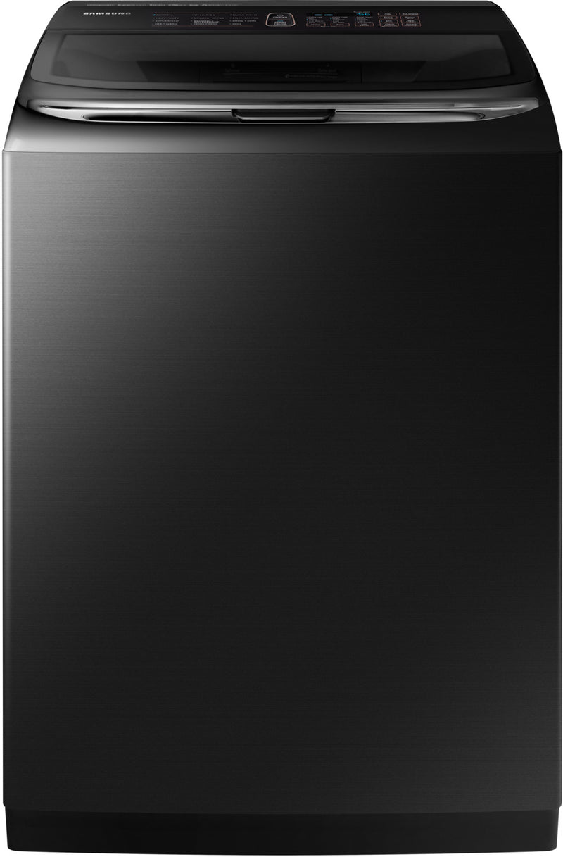 Samsung Black Stainless Steel Top-Load Washer (6.2 Cu. Ft) - WA54M8750AV/A4