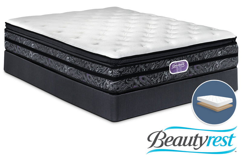 Simmons Beautyrest Ultra Trenton Plush Queen Mattress and Low-Profile Boxspring Set