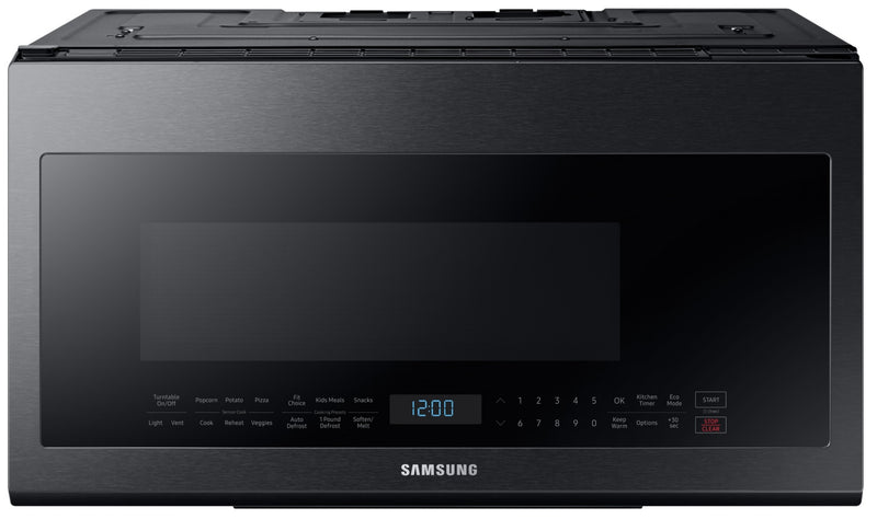 Samsung Black Stainless Steel Over-the-Range Microwave (2.1 Cu. Ft.) - ME21M706BAG/AC