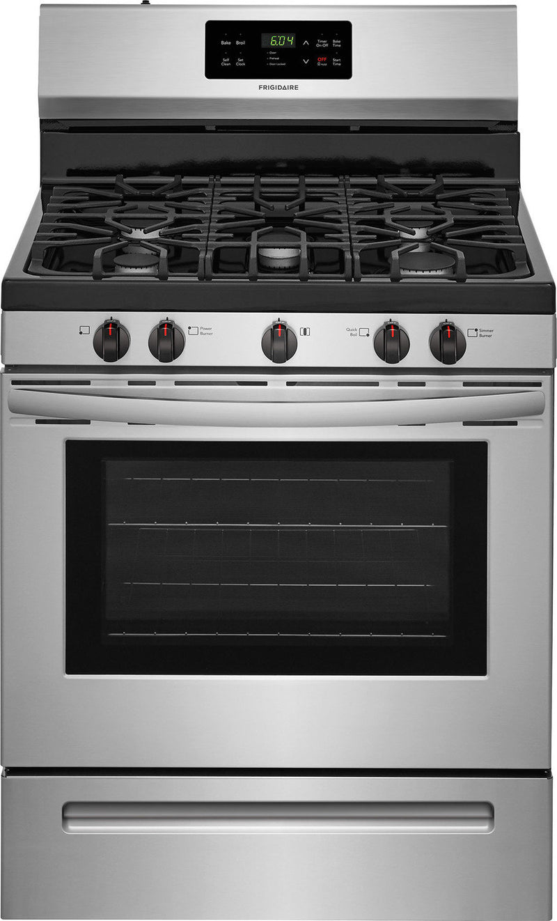 Frigidaire Stainless Steel Freestanding Gas Range (5.0 Cu. Ft.) - FFGF3054TS
