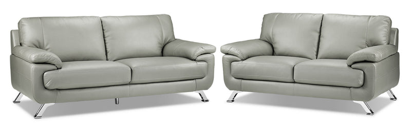 Infinity Sofa and Loveseat Set - Light Grey