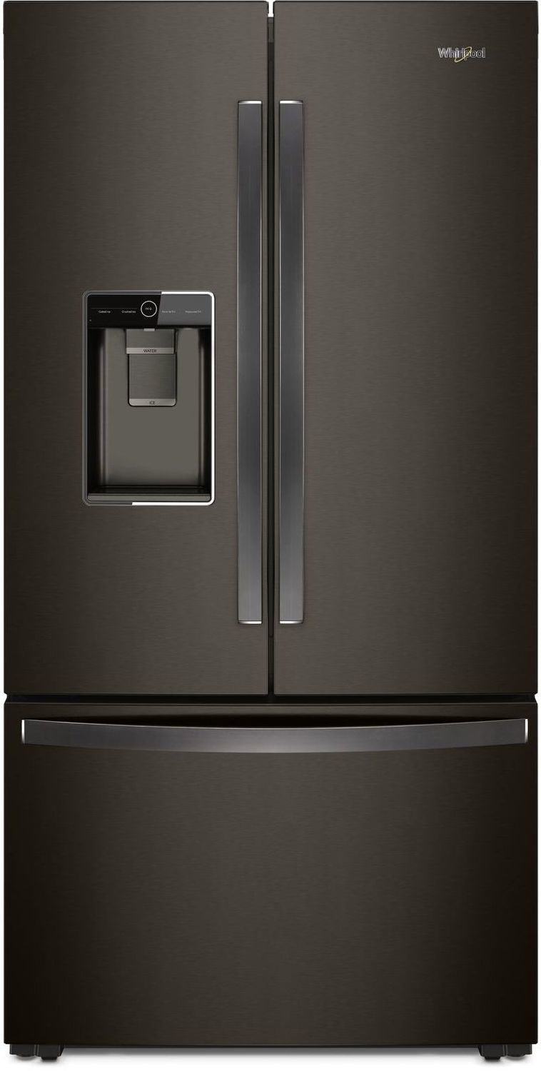 Whirlpool Black Stainless Steel Counter-Depth French Door Refrigerator (24 Cu. Ft.) - WRF954CIHV