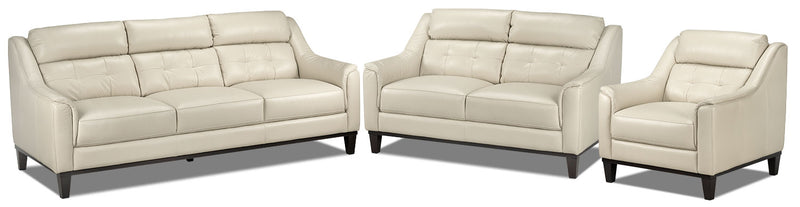 Linda Sofa, Loveseat and Chair Set - Smoke