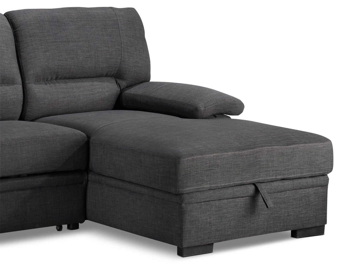 Tessaro Chaise Sofa with Pop-Up Bed - Charcoal | Leon's on occasional bed, sleeper bed, conestoga wagon bed, upholstered bed, sun bed, swing bed, desk bed, tufted bed, lounge bed, floor bed, ikea day bed, cushion bed, bed bed, sleep bed, lounger bed, ottoman bed, love seat bed, settee bed, leather bed, brown bed,