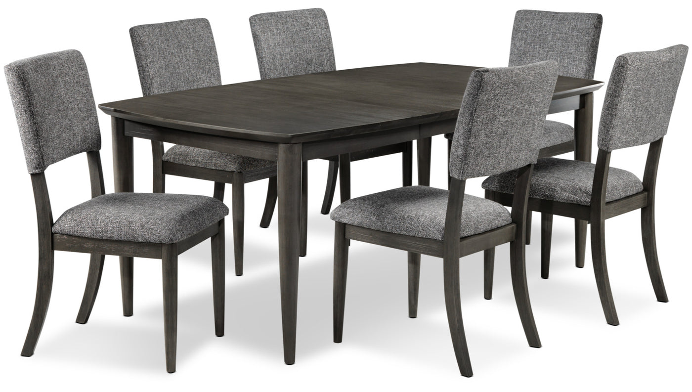Dining room set grey hover to zoom