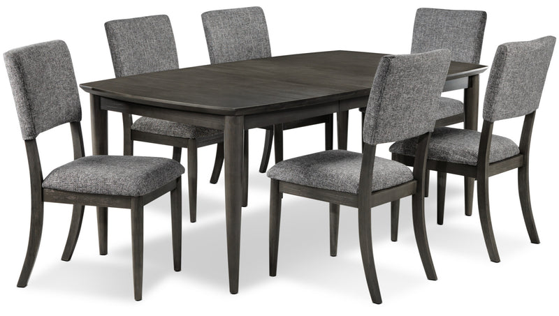 Mary-Jane 7-Piece Dining Room Set - Grey