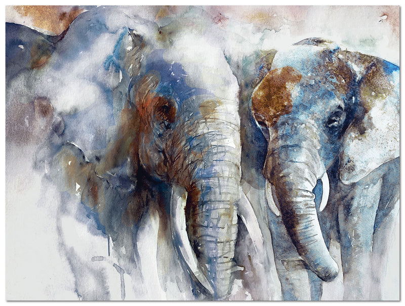 "Elephants Canvas Art (48"" X 36"")"