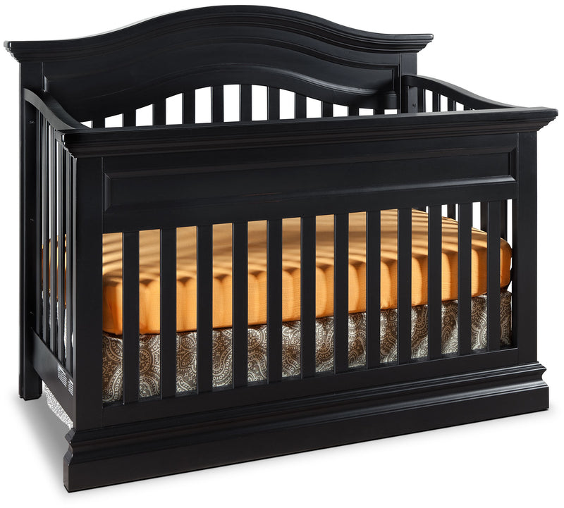Cameron Convertible Contour Crib - Black