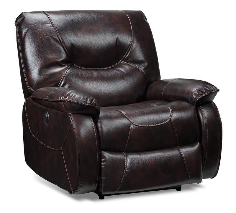 Canton Power Recliner - Dark Brown