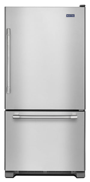 Maytag Fingerprint-Resistant Stainless Steel Bottom-Freezer Refrigerator (18.6 Cu. Ft.) - MBR1957FEZ