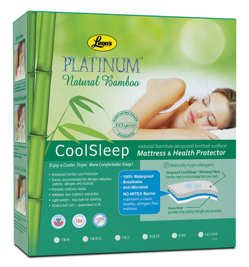Platinum Twin Mattress Health Guard - Bamboo