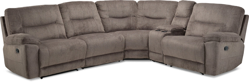 sectionals leon s rh leons ca Ashley Sleeper Sectional with Recliner Sleeper Sofa with Chaise Ottoman