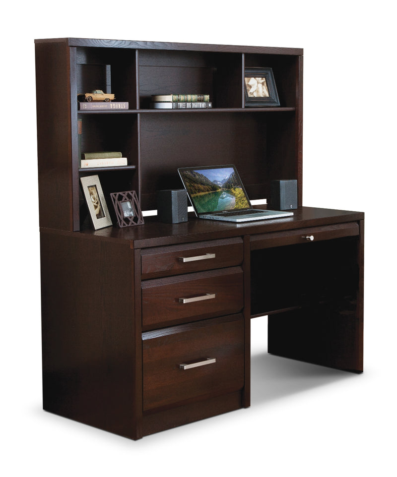 Reed 2-Piece Desk - Espresso