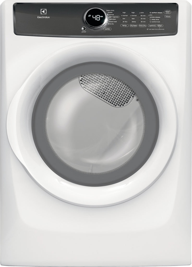 Electrolux White Electric Dryer (8.0 Cu. Ft.) - EFMC427UIW