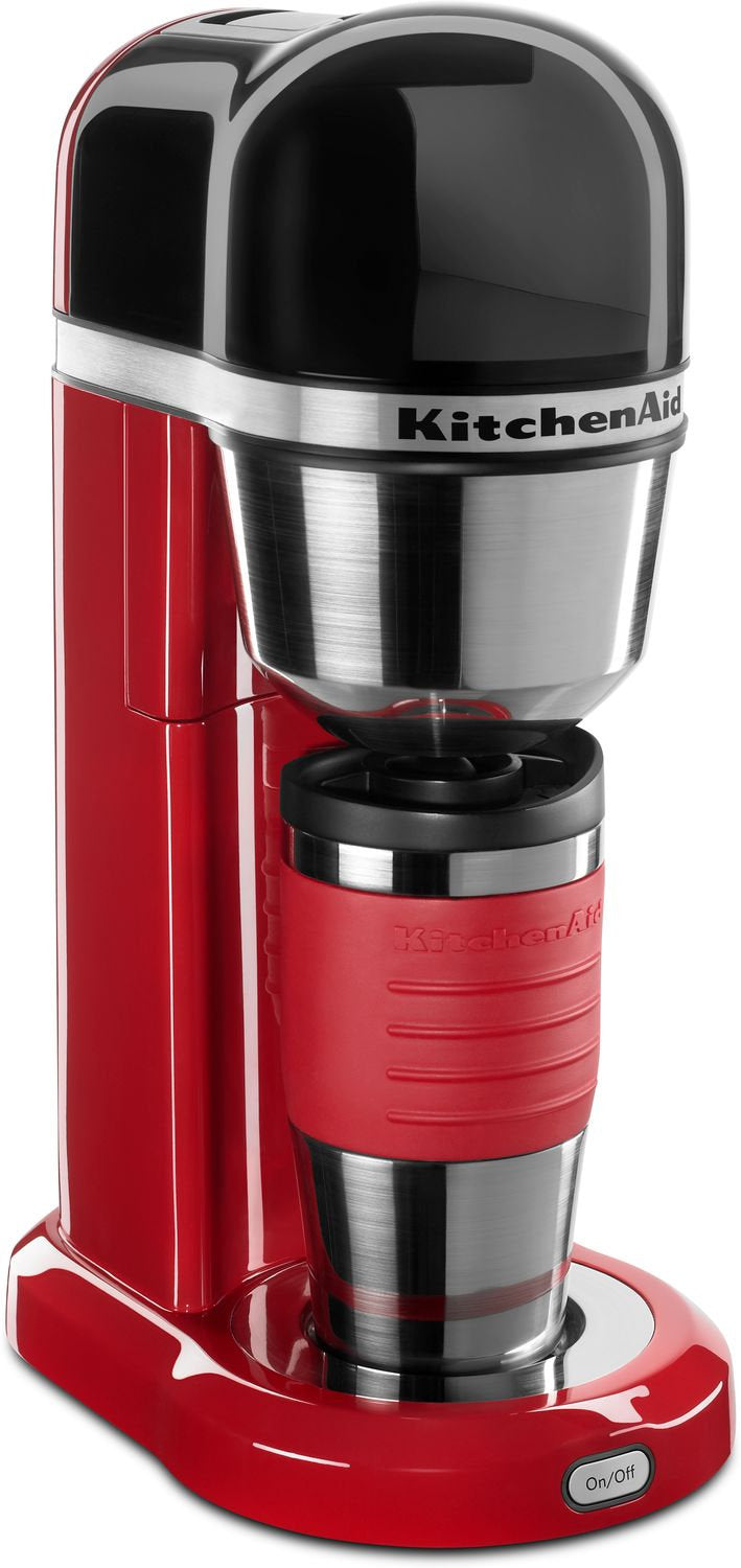 KitchenAid Empire Red Personal Coffee Maker with 18-Oz. Thermal Mug - KCM0402ER