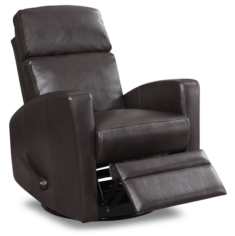 Nina Swivel Glider Recliner - Dark Brown