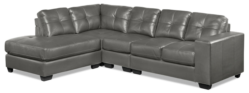 Meldrid 4-Piece Sectional with Left-Facing Chaise - Dark Grey