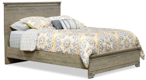 Gramado Queen Bed - Weathered Oak