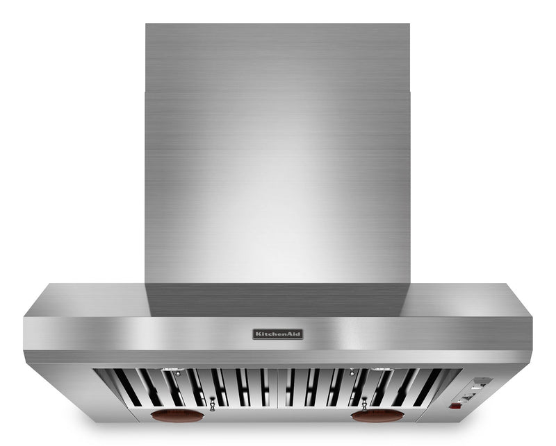 "KitchenAid Stainless Steel 36"" 1200 Wall-Mount Range Hood - KXW9736YSS"