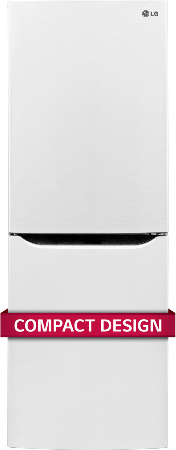 LG White Counter-Depth Bottom-Freezer Refrigerator (10.1 Cu. Ft.) - LBNC10551W