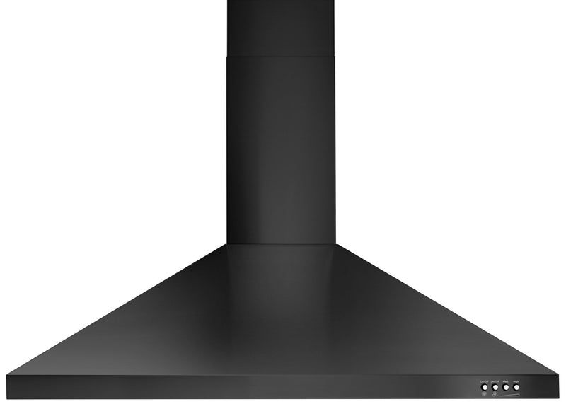 "Whirlpool Black Stainless Steel 36"" 400 CFM Canopy Wall-Mount Range Hood - WVW53UC6HV"