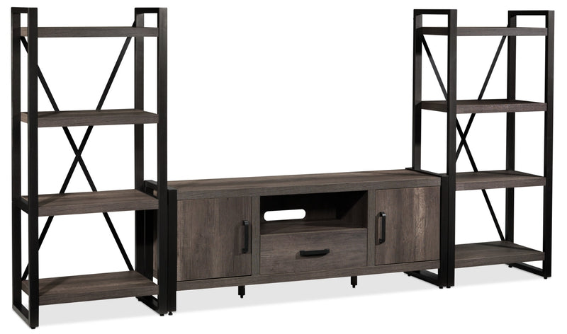 Dean 3-Piece Entertainment Wall Unit - Greystone