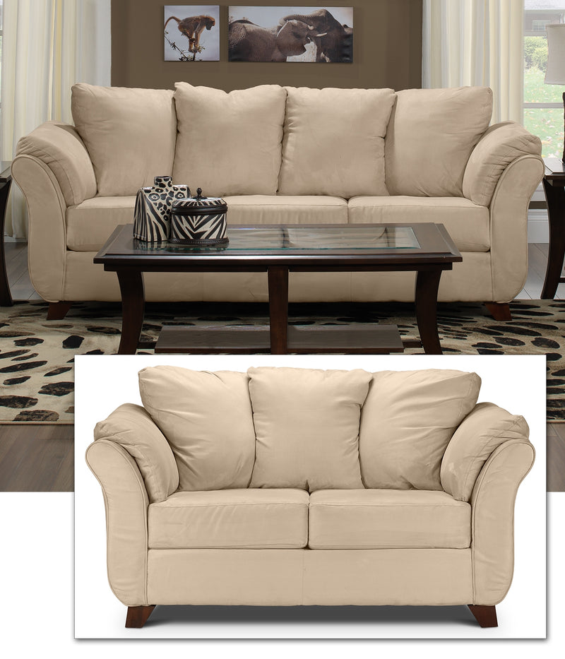Collier 2 Pc. Living Room Package - Beige