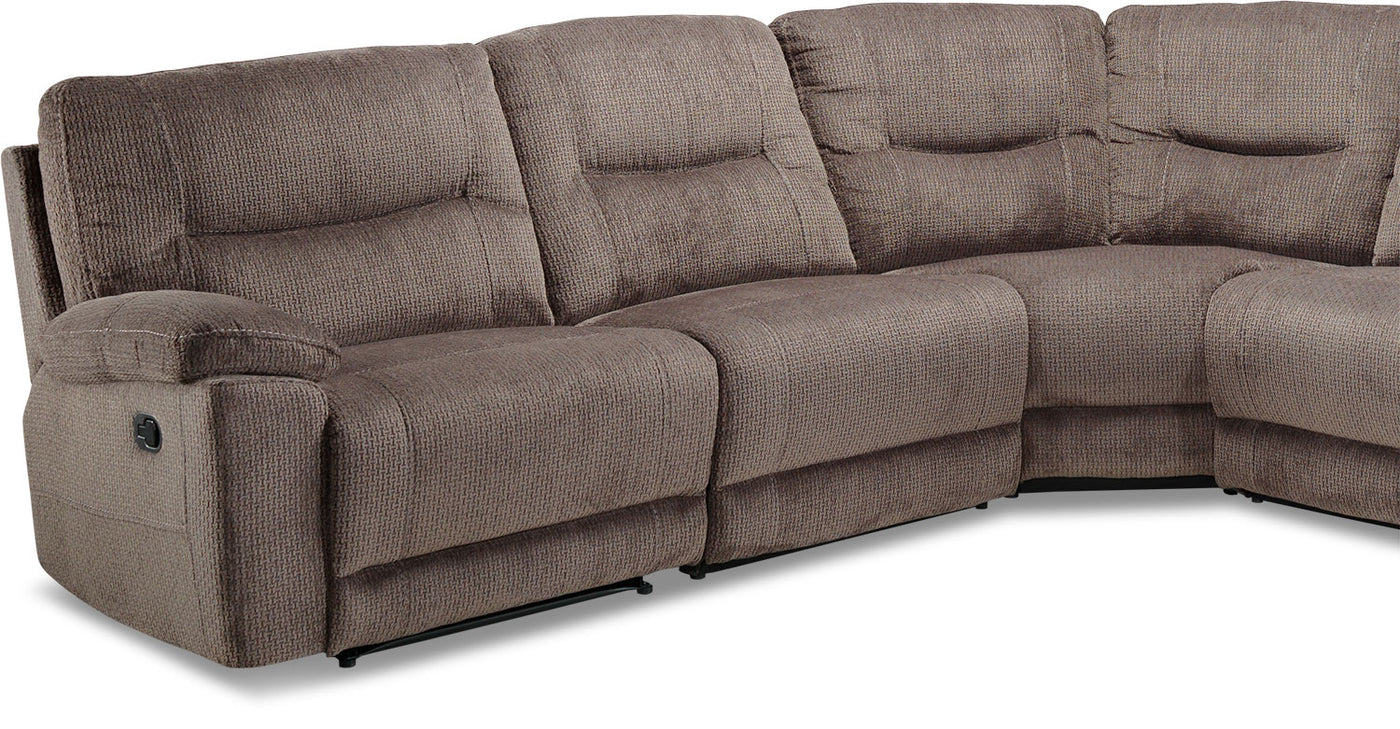 Colorado 6 piece reclining sectional grey