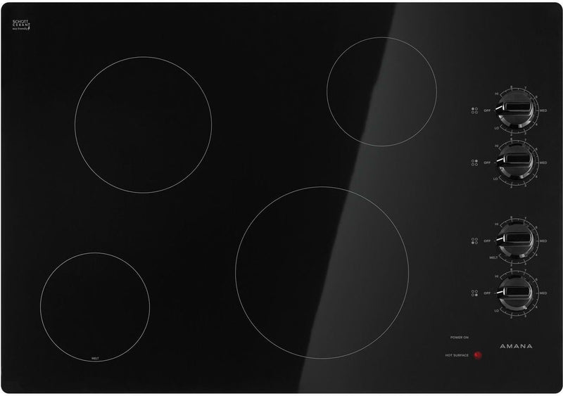 "Amana Black 30"" Electric Cooktop - AEC6540KFB"