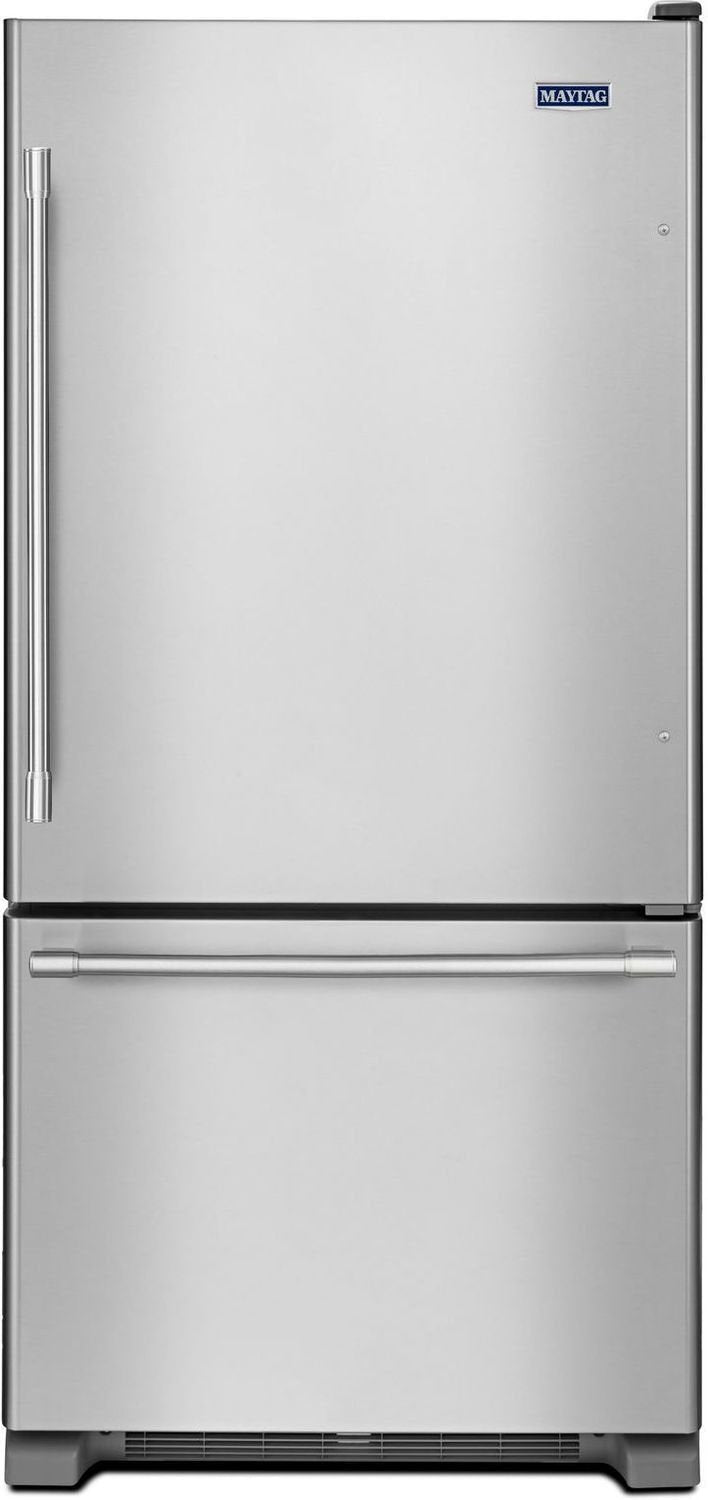 Maytag Stainless Steel Bottom-Freezer Refrigerator (22 Cu. Ft.) - MBF2258FEZ