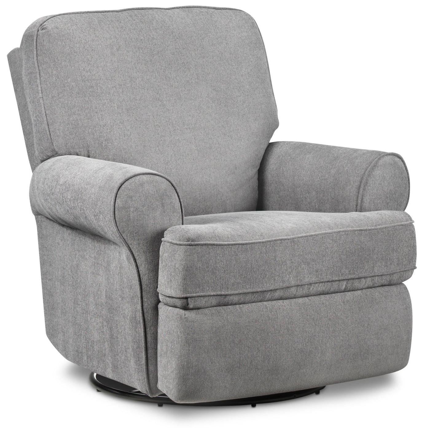 Gracie swivel glider recliner graphite touch to zoom