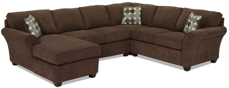 Althea 4-Piece Sectional with Left-Facing Chaise - Coffee