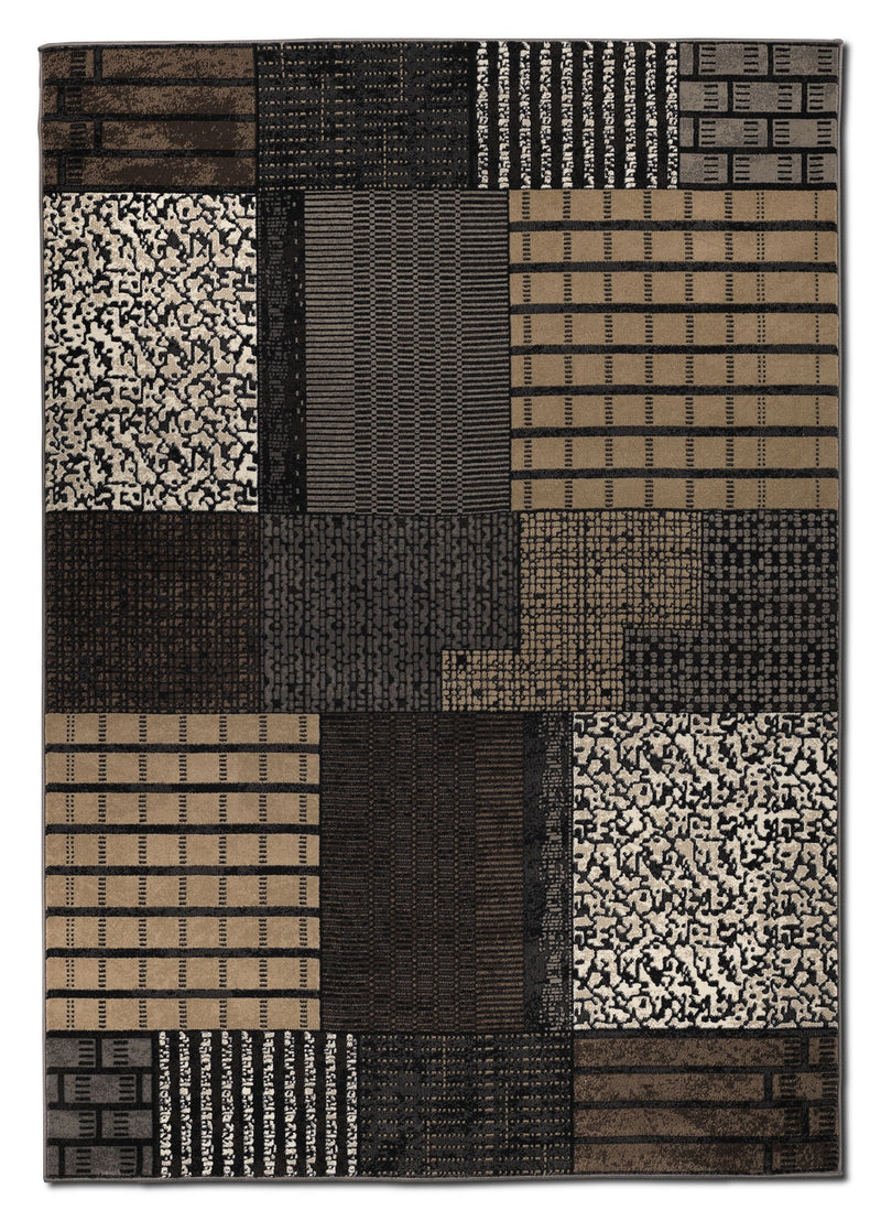 Suitable 5' x 8' Area Rug - Brown