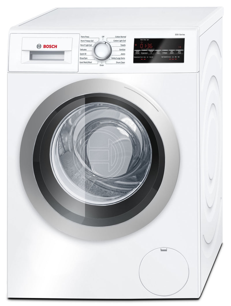 Bosch Silver and White Front-Load Washer (2.2 Cu. Ft.) - WAT28401UC