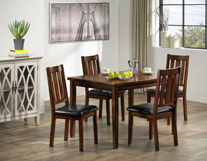 Boyd 5-Piece Dinette Set - Dark Brown Cherry