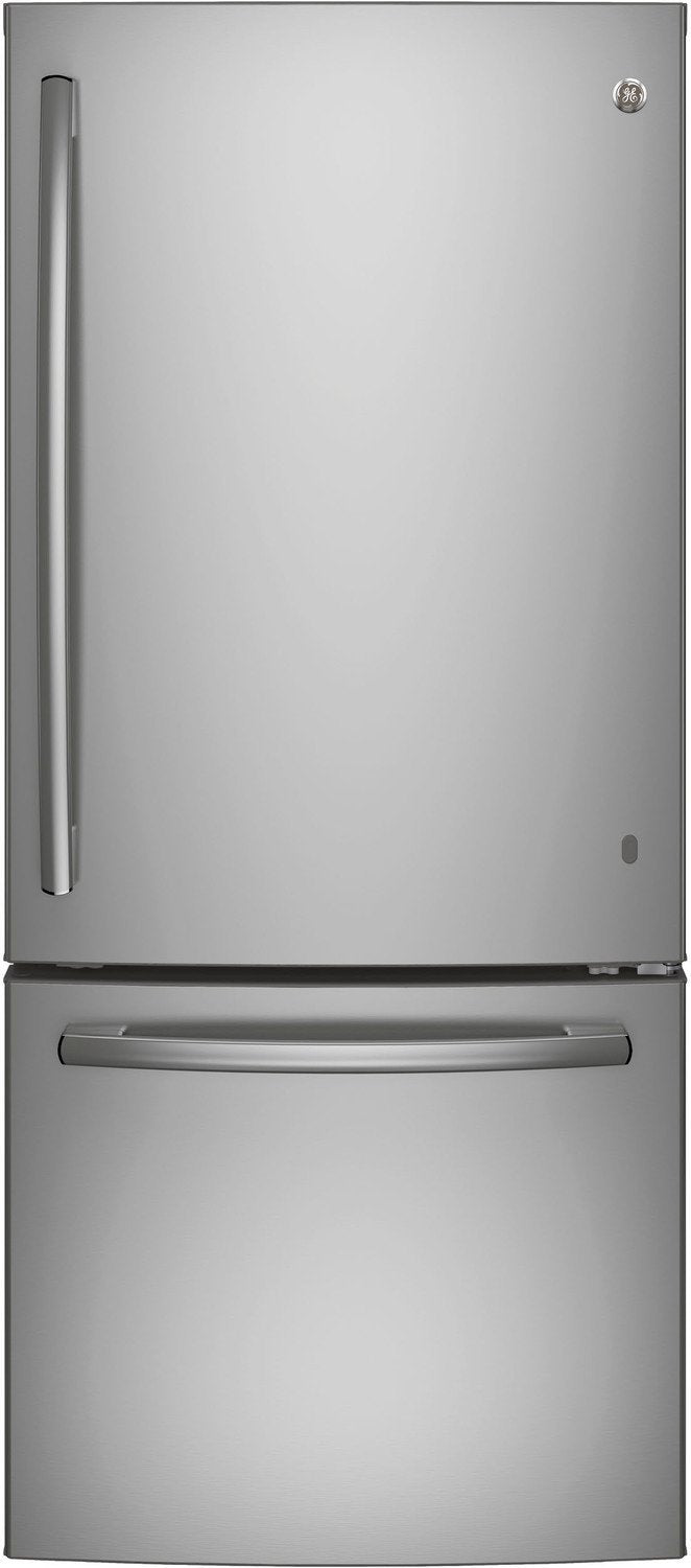 GE Stainless Steel BOTTOM-FREEZER REFRIGERATOR (20.9 CU. FT.) - GBE21ASKSS