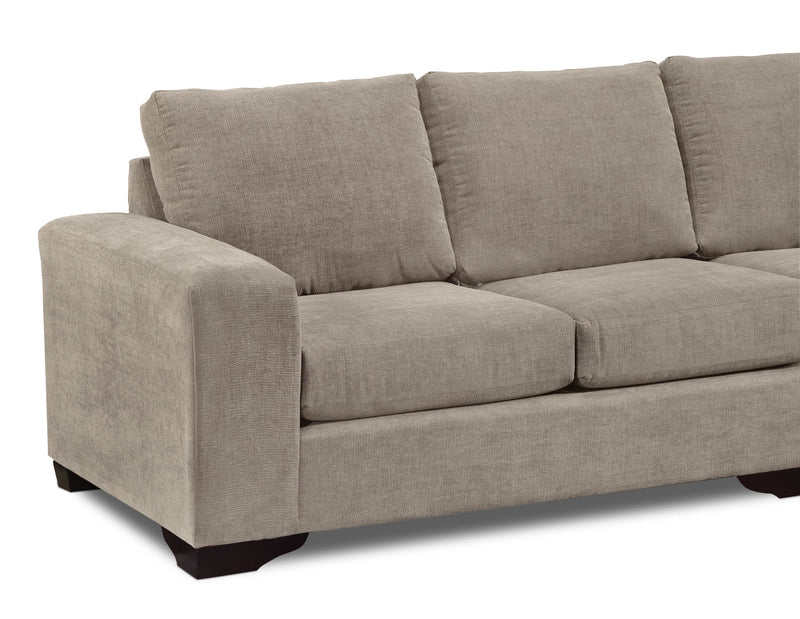 Pleasing Danielle 2 Piece Sectional With Right Facing Chaise Pewter Uwap Interior Chair Design Uwaporg