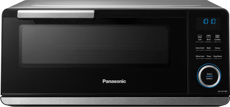 Panasonic Black-on-Stainless Steel Countertop Induction Oven (0.5 Cu. Ft.) - NUHX100S
