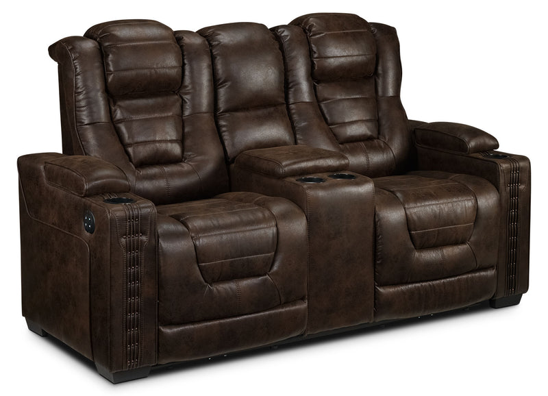 Dakota Power Reclining Loveseat - Walnut
