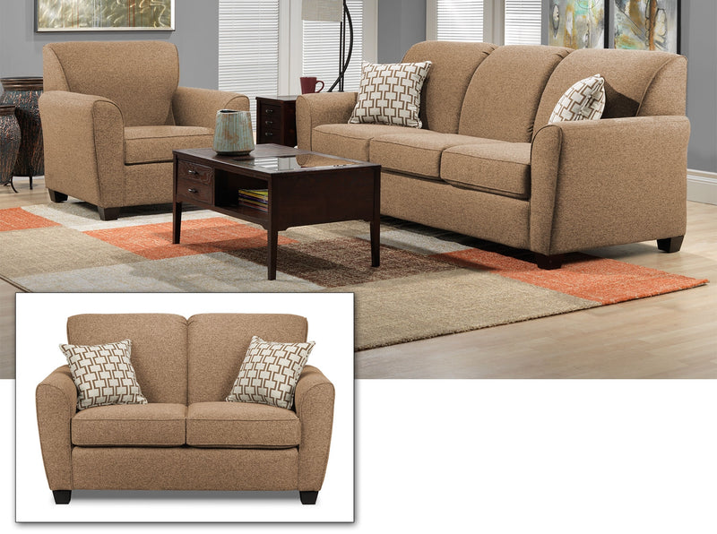 Ashby 3 Pc. Living Room Package - Sand