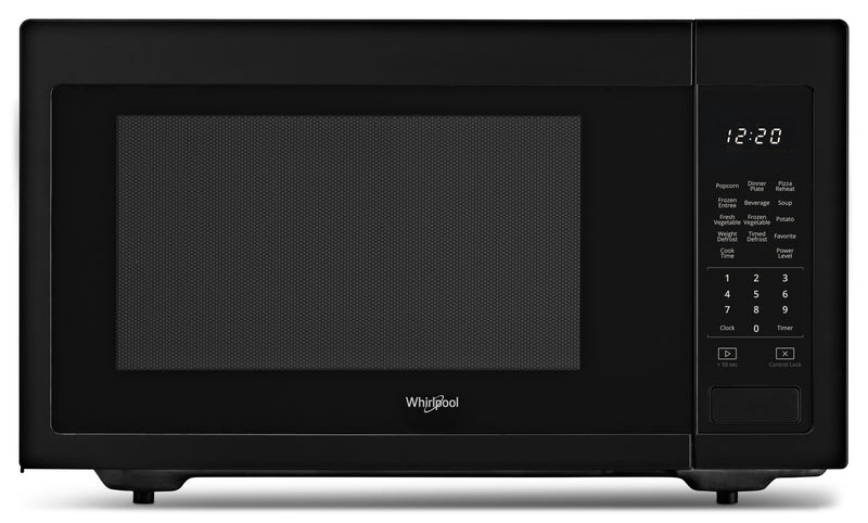 Whirlpool Black Countertop Microwave (1.6 Cu. Ft.) - YWMC30516HB
