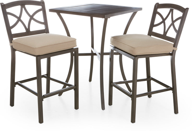 Davenport 3-Piece Outdoor Bar Set - Brown and Beige