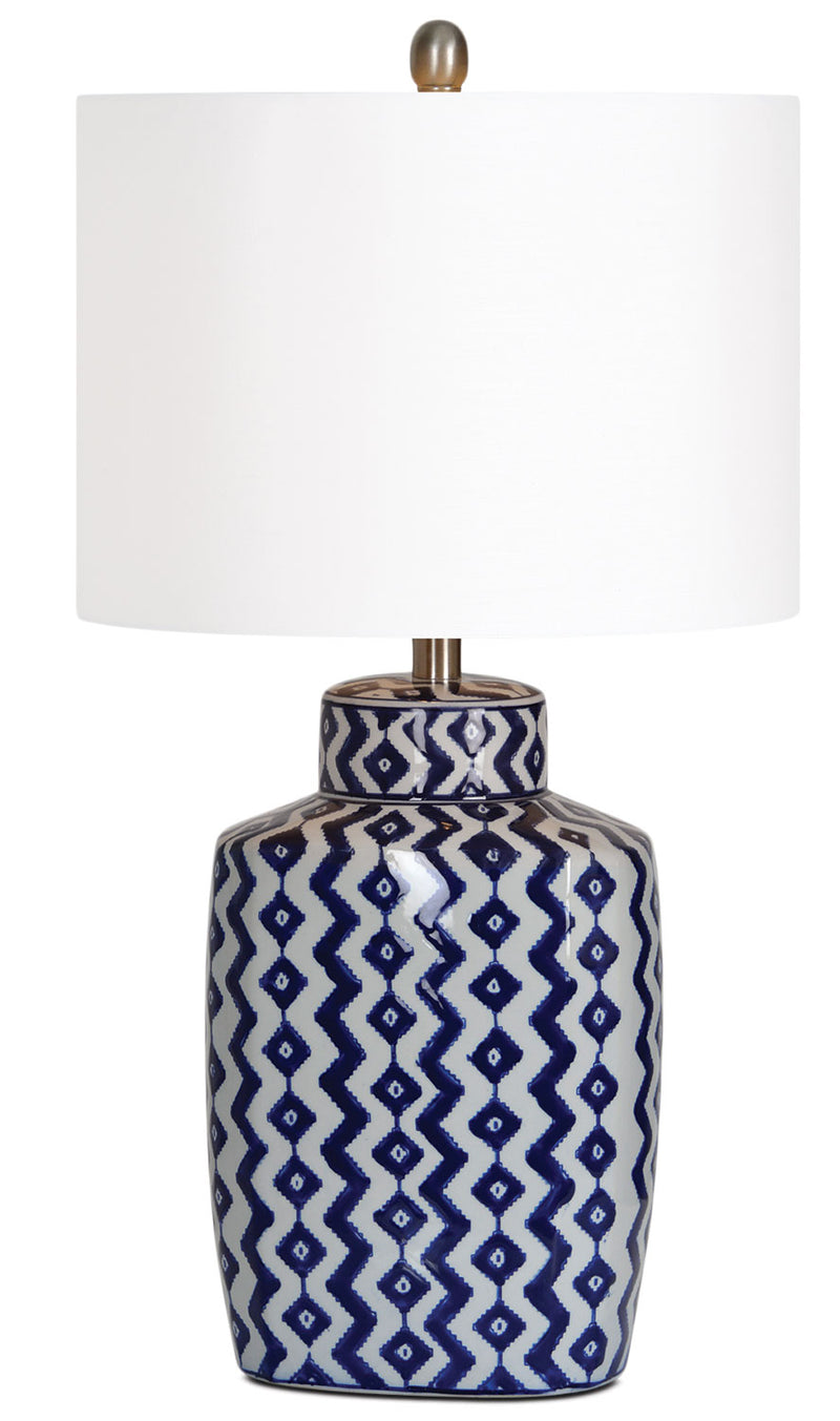 "Geneva 29.5"" Table Lamp - White and Blue"