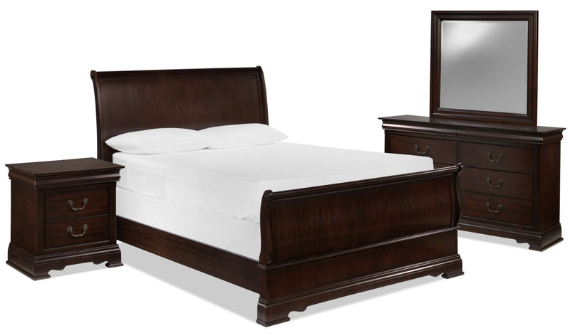 Wyndham 5-Piece King Bedroom Set - Cherry Chocolate