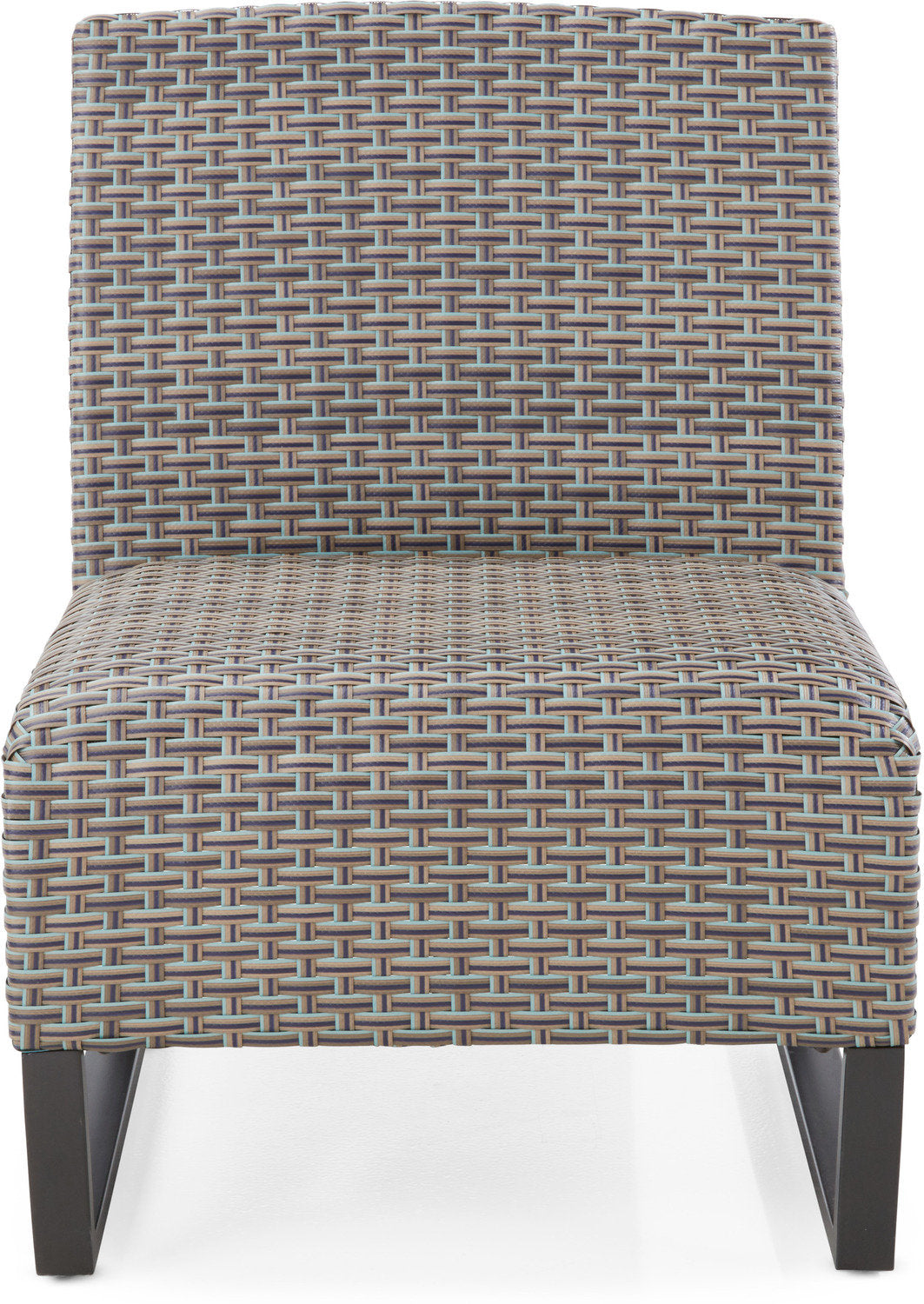 Del Mar Outdoor Armless Chair - Grey and Blue - Del Mar Outdoor Armless Chair - Grey And Blue Leon's