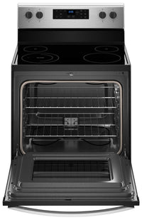 Whirlpool Black On Stainless Steel Freestanding Electric