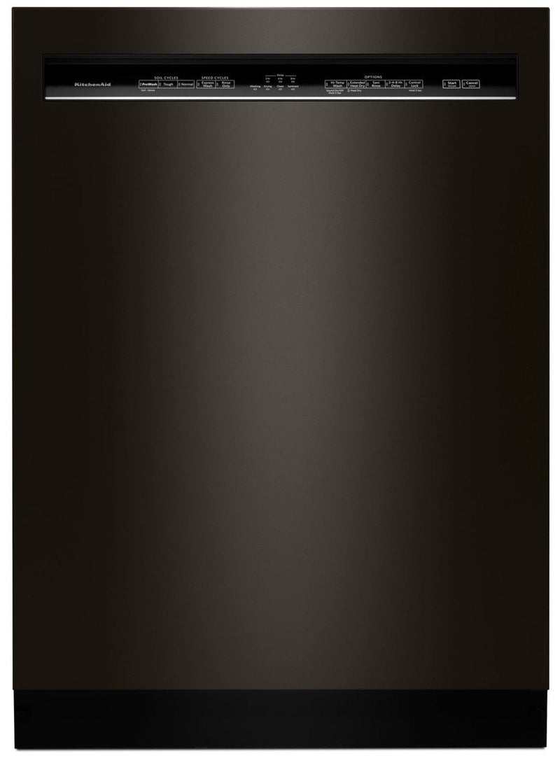 "KitchenAid Black Stainless Steel 24"" Dishwasher - KDFE104HBS"
