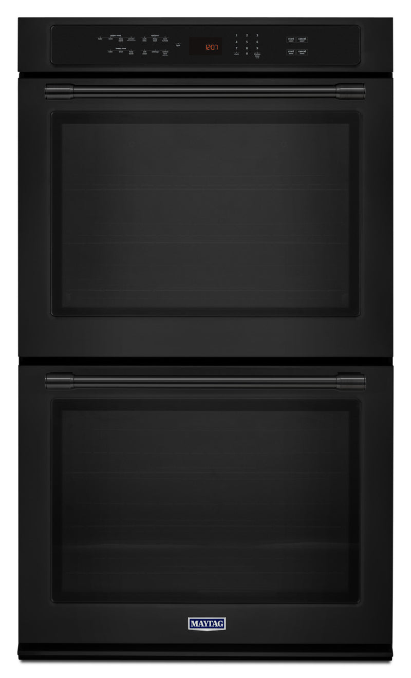 Maytag Black Electric Double Wall Oven (8.6 Cu. Ft.) - MEW9627FB